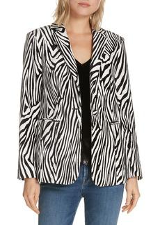 FRAME Zebra Print Blazer