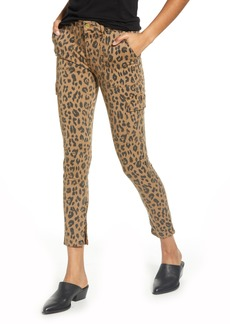 FRAME Zip Cuff Cargo Skinny Jeans (Spring Cheetah)