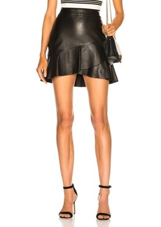 FRAME Zip Twirl Mini Skirt