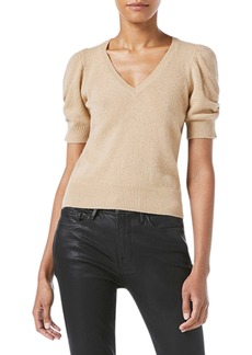FRAME Frankie Puff-Sleeve Cashmere Sweater
