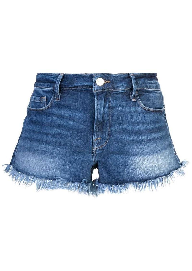 FRAME frayed edge micro denim shorts