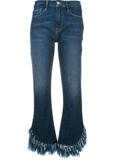 FRAME frayed hem cropped jeans