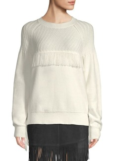 FRAME Fringe Knit Sweater