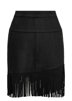 FRAME Fringe Mini Skirt