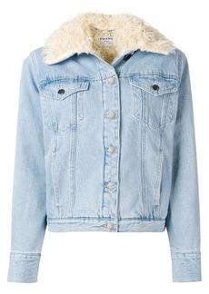 FRAME fur lined denim jacket