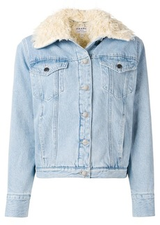 FRAME fur lined denim jacket