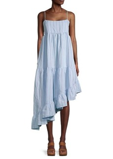 FRAME Gemma Striped Asymmetrical Dress