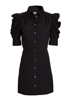 FRAME Gillian Cotton Poplin Mini Dress