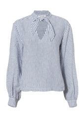 FRAME Handkerchief Striped Linen Top