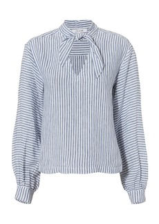 FRAME Handkerchief Striped Linen Top