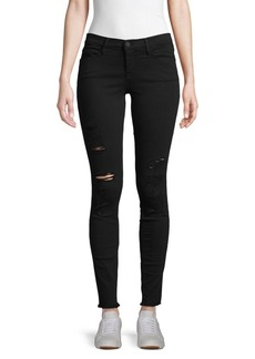 FRAME High-Rise Distressed Skinny Jeans