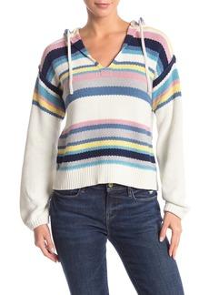 FRAME Hooded Stripe Sweater