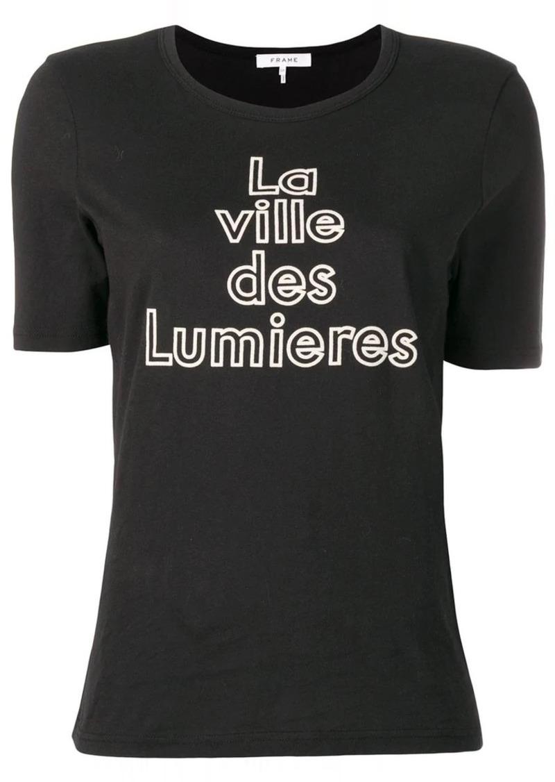 FRAME 'la ville des lumieres' printed T-shirt