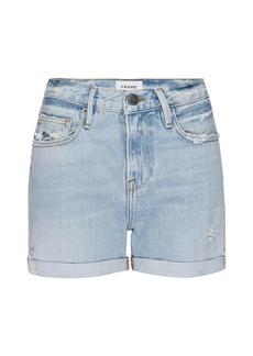 FRAME Le Beau High-Rise Denim Shorts