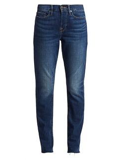 FRAME Le Beau High-Rise Straight Leg Jeans