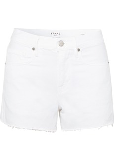 FRAME Le Brigette Frayed Denim Shorts