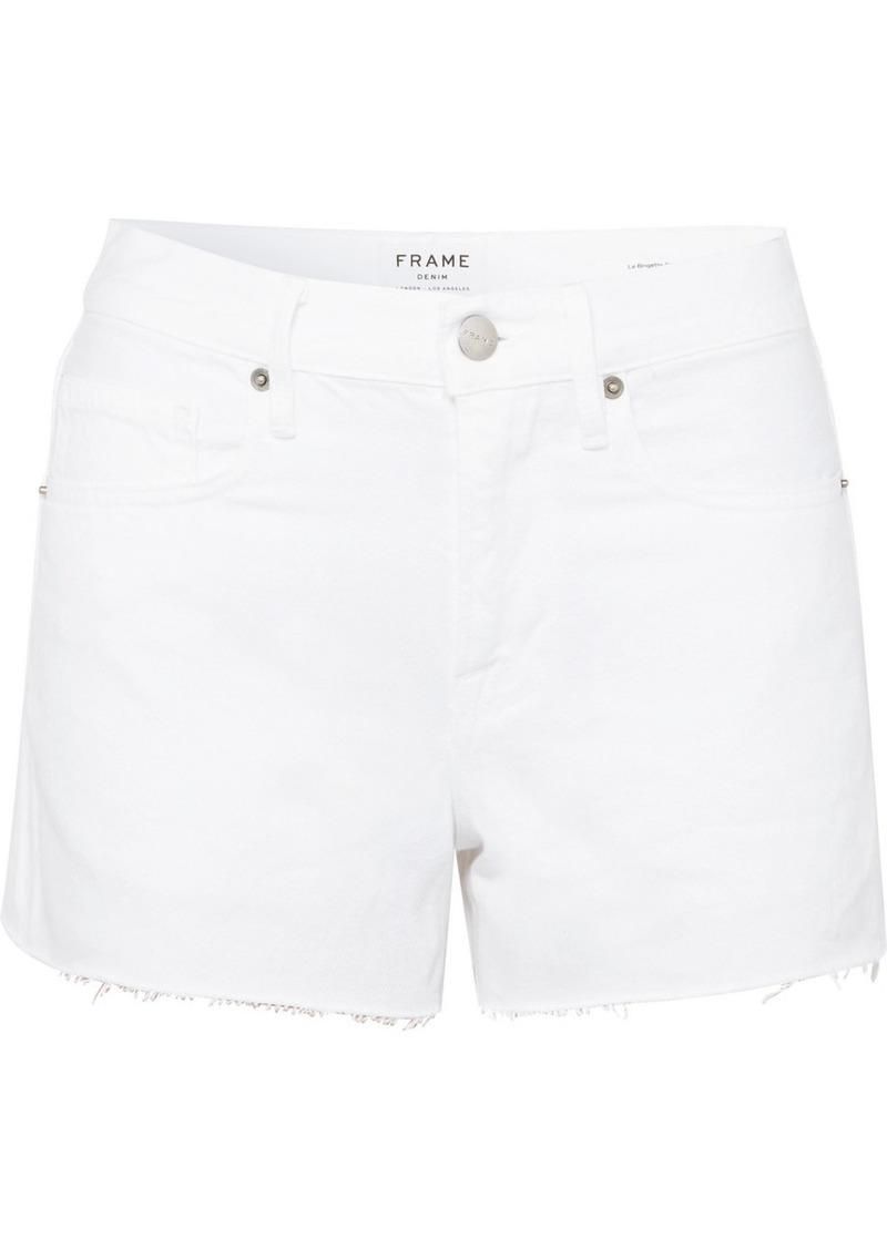 FRAME Le Brigette Frayed Denim Shorts