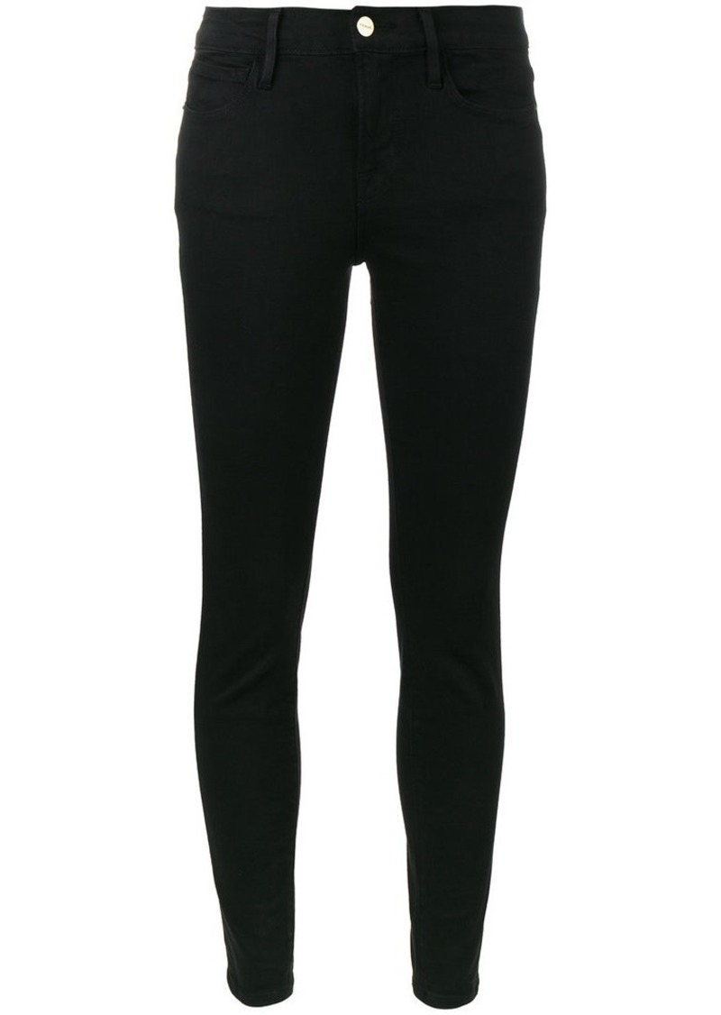 Le Color Black mid rise skinny jeans