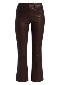 FRAME Le Crop Leather Bootcut Pants
