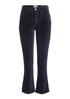 FRAME Le Crop Mini Bootcut Flared Velvet Pants