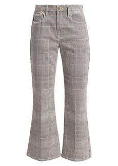 FRAME Le Crop Plaid Kick Jeans