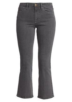 FRAME Le Crop Mid-Rise Mini Bootcut Plaid Jeans