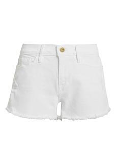 FRAME Le Cut Off Blanc Shorts
