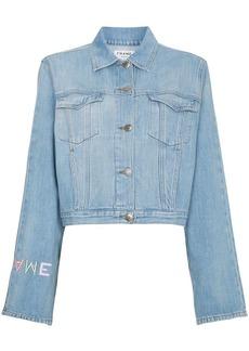 FRAME Le Embroidery logo denim jacket