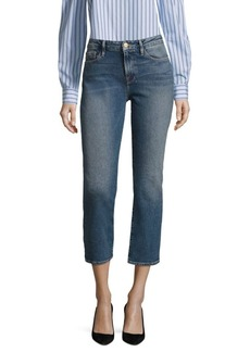FRAME Le Faded Cropped Jeans