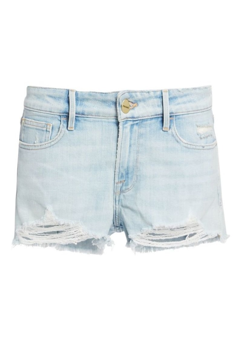 FRAME Le Grand Garcon Distressed Jean Shorts