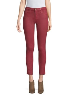 FRAME Le High Coated Crop Skinny Jeans