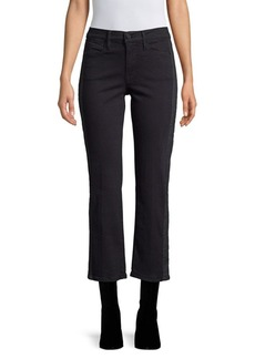 FRAME Le High Coated Crop Jeans