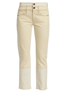 FRAME Le High Double-Button Straight-Leg Jeans
