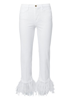 FRAME Le High Feather Cropped Jeans