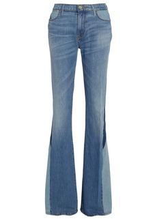 FRAME Le High Flare Blocked Jeans