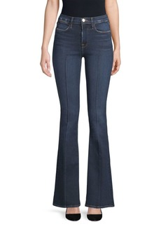 FRAME Le High Pintuck Flared Jeans