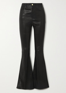 FRAME Le High Flare Leather Flared Pants