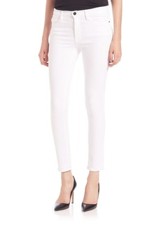 FRAME Le High-Rise White Skinny Jeans