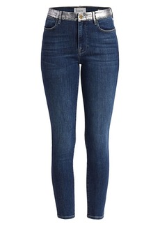 FRAME Le High Skinny Foil Pocket Jeans