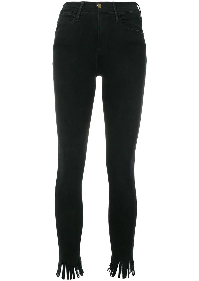 FRAME Le High Skinny Fringe trousers