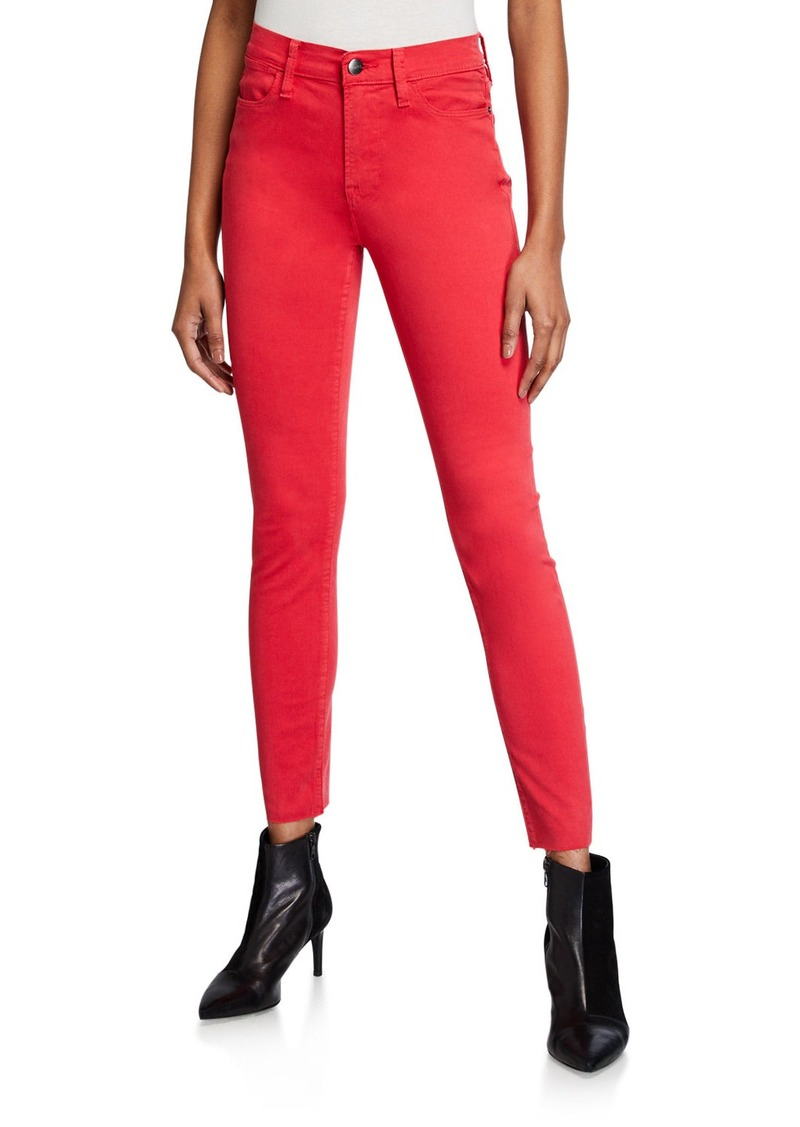 FRAME Le High Skinny Jeans w/ Raw-Edge Hem