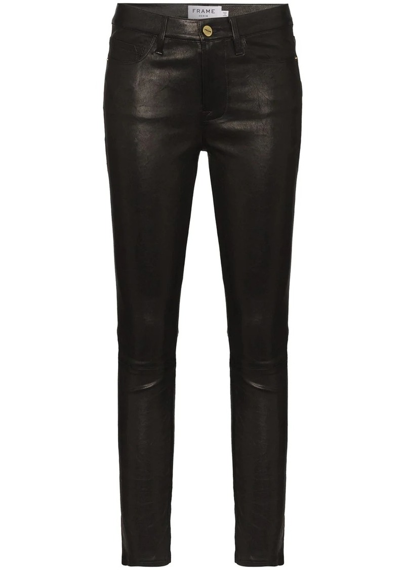 Le High skinny leather trousers