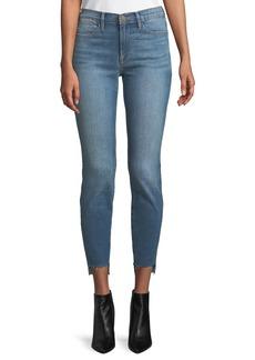 FRAME Le High Skinny-Leg Jeans w/ Raw Stagger Hem