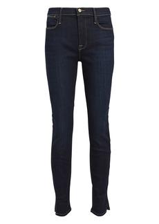 FRAME Le High Skinny Slit Hem Jeans
