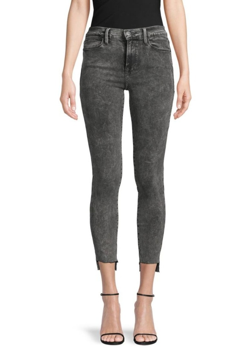 FRAME Le High Skinny Stepped Jeans
