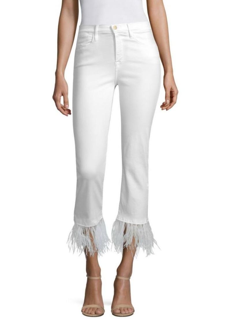 FRAME Le High Straight-Leg Feather Jeans