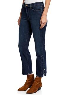 FRAME Le High Straight-Leg Snap-Away Jeans