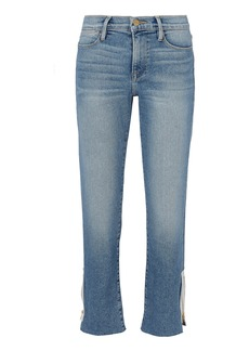 FRAME Le High Straight Zip Jeans
