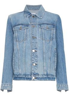 FRAME Le Jacket Oversized Denim Jacket with rear zips