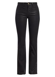 FRAME Le Mini Coated Mid-Rise Bootcut Jeans